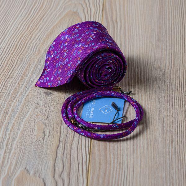 Corbata y cordón Fio de Martié Lilay